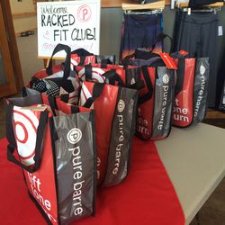 Pure Barre hooked up some amazing gift bags for attendees.