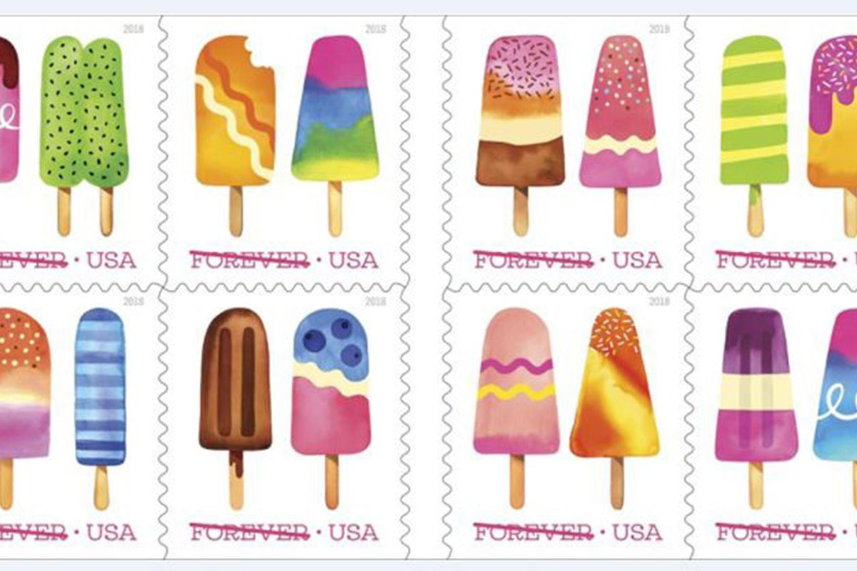 Stamps with popsicles on them