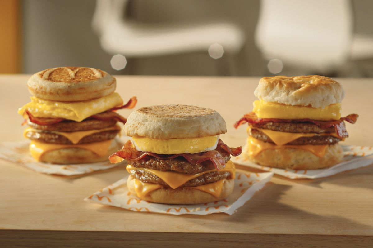 mcdonald's 'triple stacks' are first new breakfast item in a decade