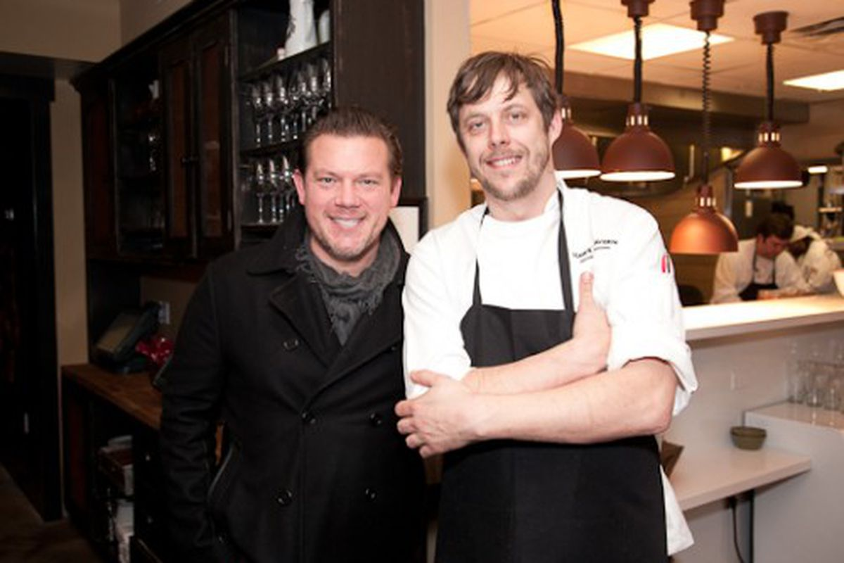 Tyler Florence and executive chef Mike Thiemann