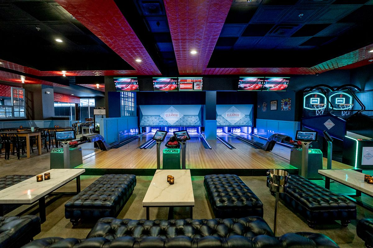 The Eleanor in Silver Spring has six miniature bowling lanes
