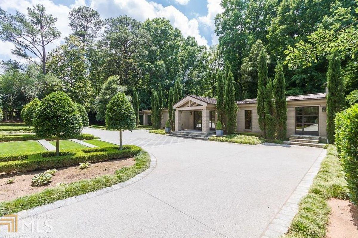 A midcentury compound property for sale in Atlanta's Buckhead neighborhood.