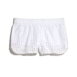 Eyelet shorts in white, $26, 2-18, 14W-26W (plus-size online only)
