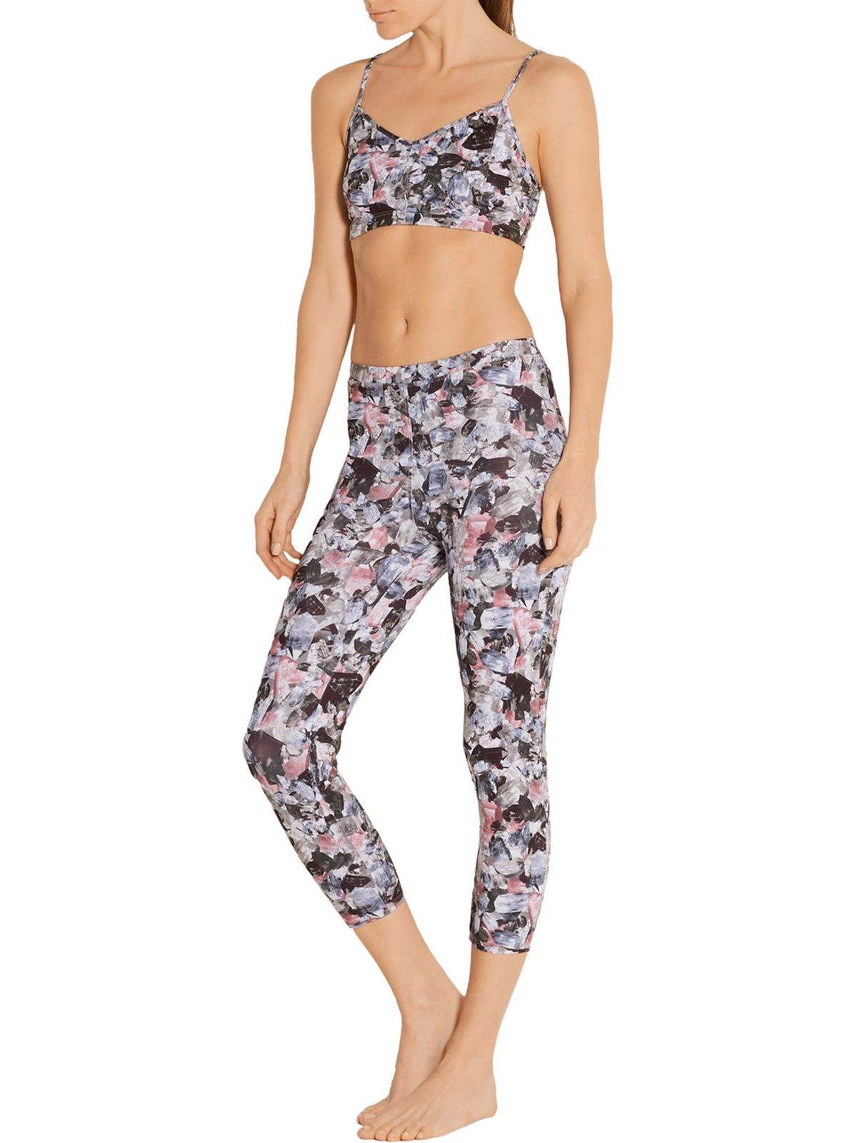Live the Process Printed Sports Bra, $38.25, and Leggings, $65.25