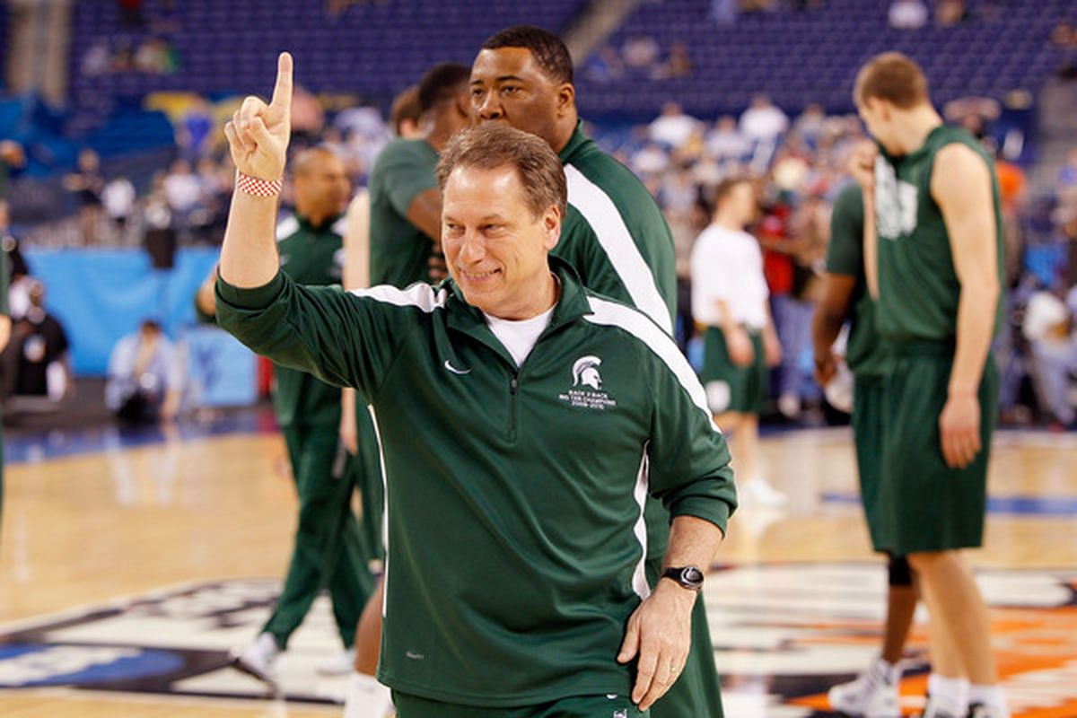 Coach Izzo communicates his goal for the 2014 recruiting class (Photo by Kevin C. Cox/Getty Images)