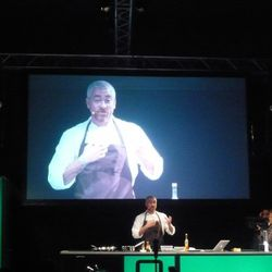 """Alex Atala of D.O.M. in Brazil discussed cultural interpretation by focusing on eating insects. """"In Brazil, we'll have ginger and say it tastes like an ant, while someone from America might try one and say it tastes like ginger,"""" he explained."""