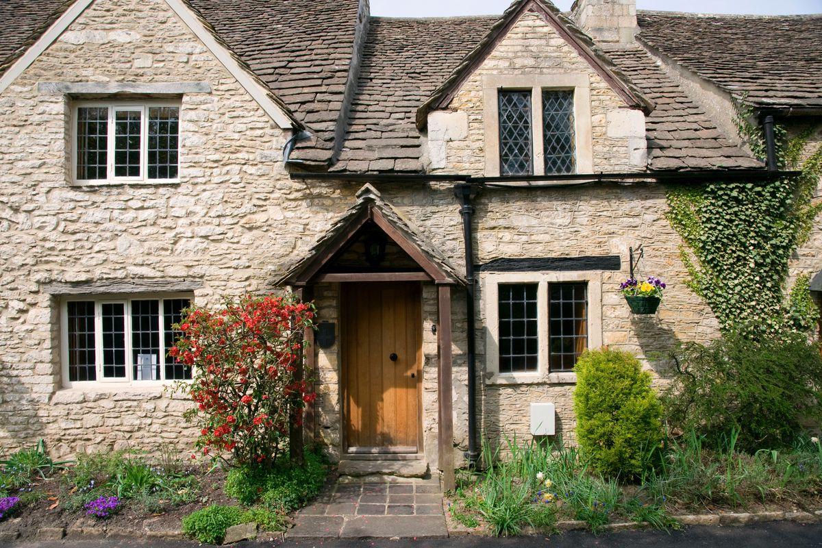 An English stone cottage.