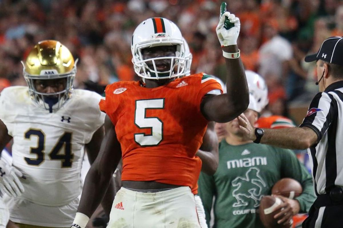 more photos 9ff81 cc73f Miami Hurricanes 2018 Player Profile: S Amari Carter - State ...