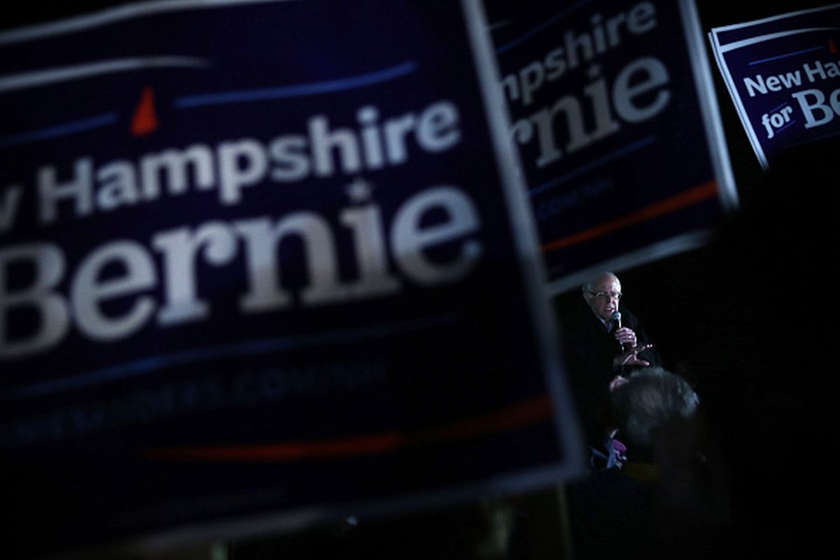 Bernie Sanders speaks to supporters in Concord, New Hampshire, on Tuesday after an early morning flight. Can he turn a strong showing in Iowa into a national candidacy?