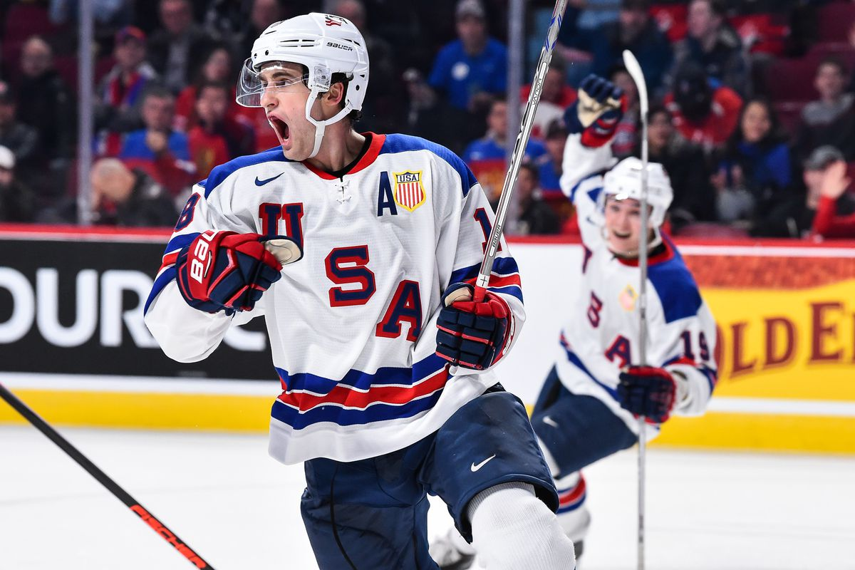 5186d9c016a Colin White Scores Two Goals As USA Advances To World Junior Final ...