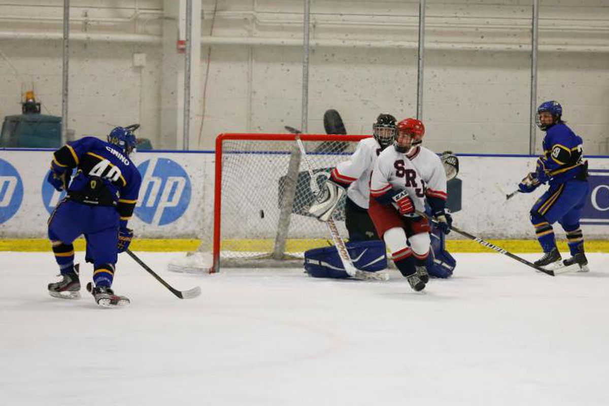 In Kyle Dutra's (#28) last home game as a Spartan, he set up Sam Cimino (#40) for the game-winner in overtime.