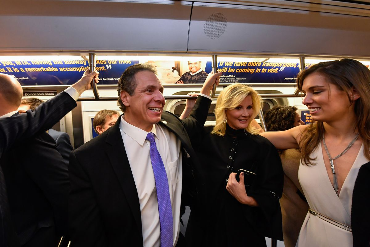 Governor Andrew Cuomo takes an opening ride on the Second Avenue Subway, Dec. 31, 2016.