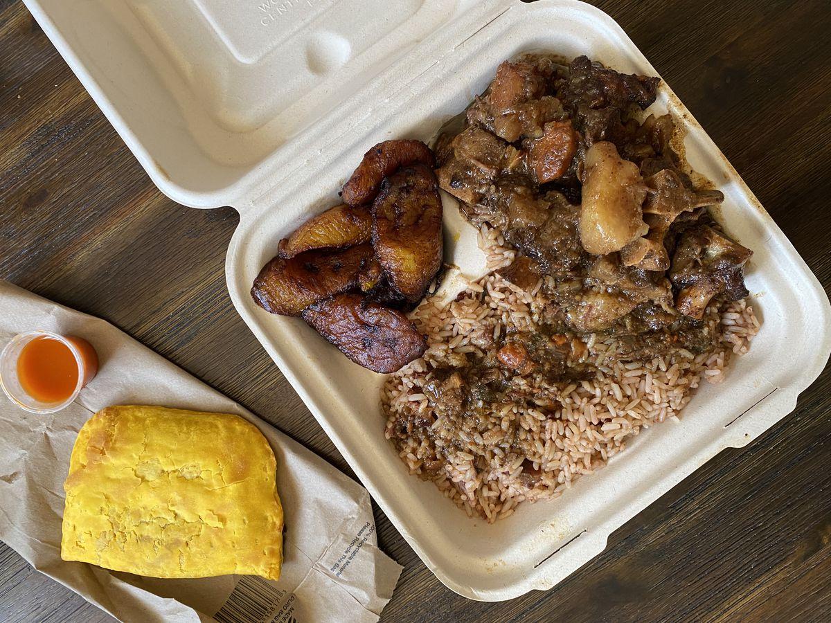 Jamaican oxtails at Pasadena Fish Market in Pasadena.