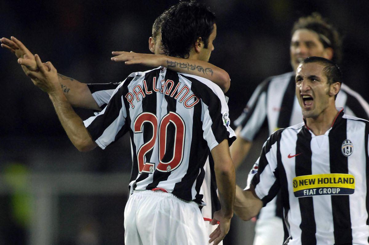 Juventus's Raffaele Palladino celebrates