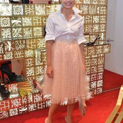 Amelia Canham Eaton looks a little ballerina and a little Carolina Herrera. We love it a lot.
