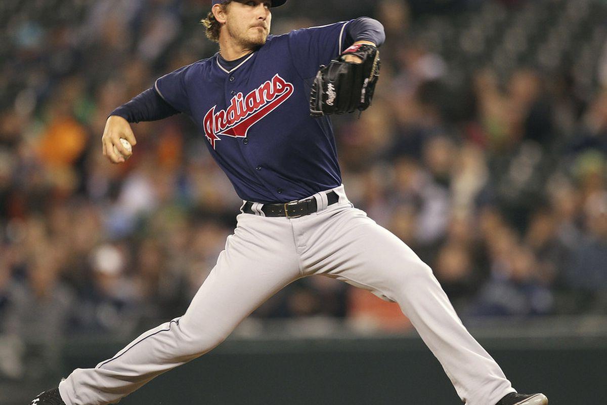 Josh Tomlin matched Felix Hernandez inning for inning tonight. No, really.