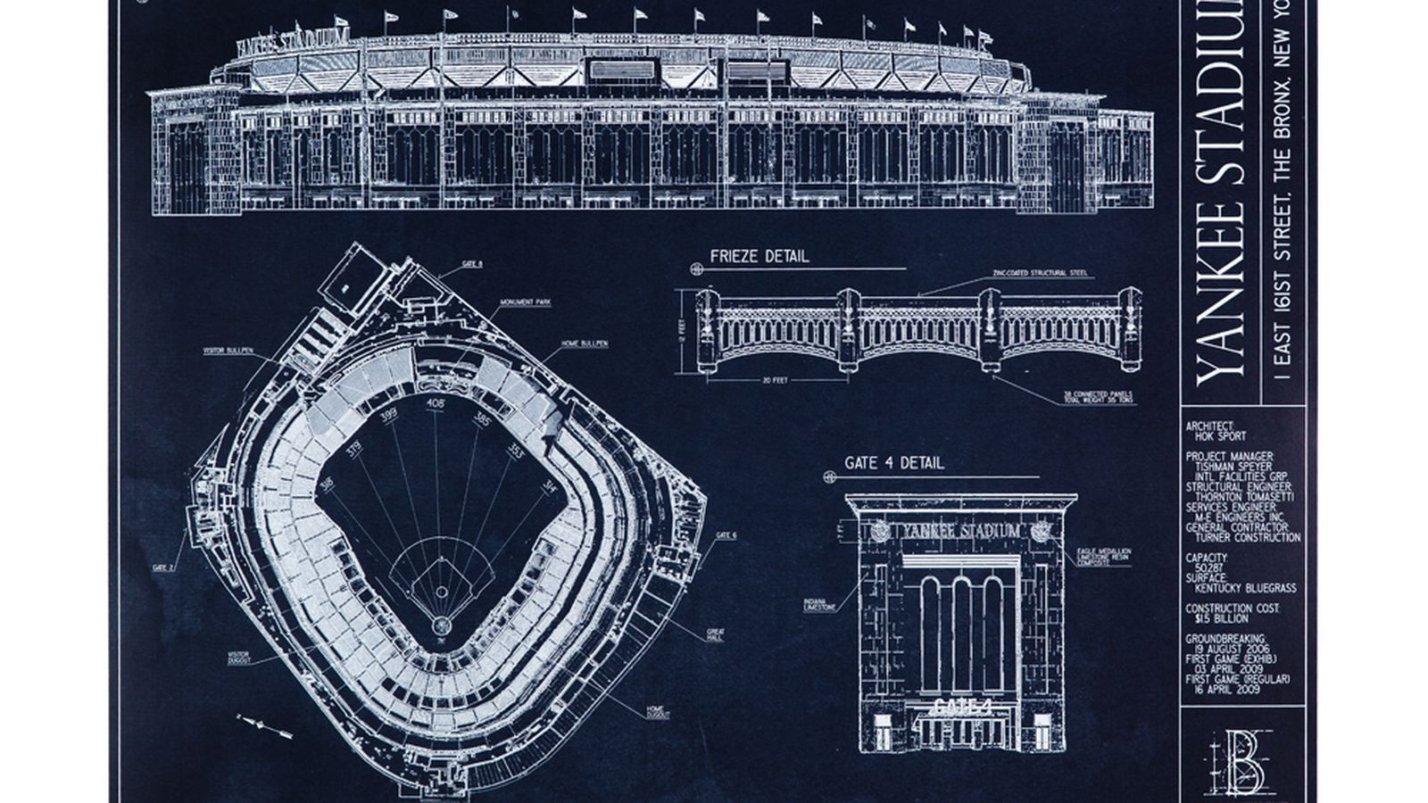 Ballpark Blueprints Yankee Stadium Pinstripe Alley