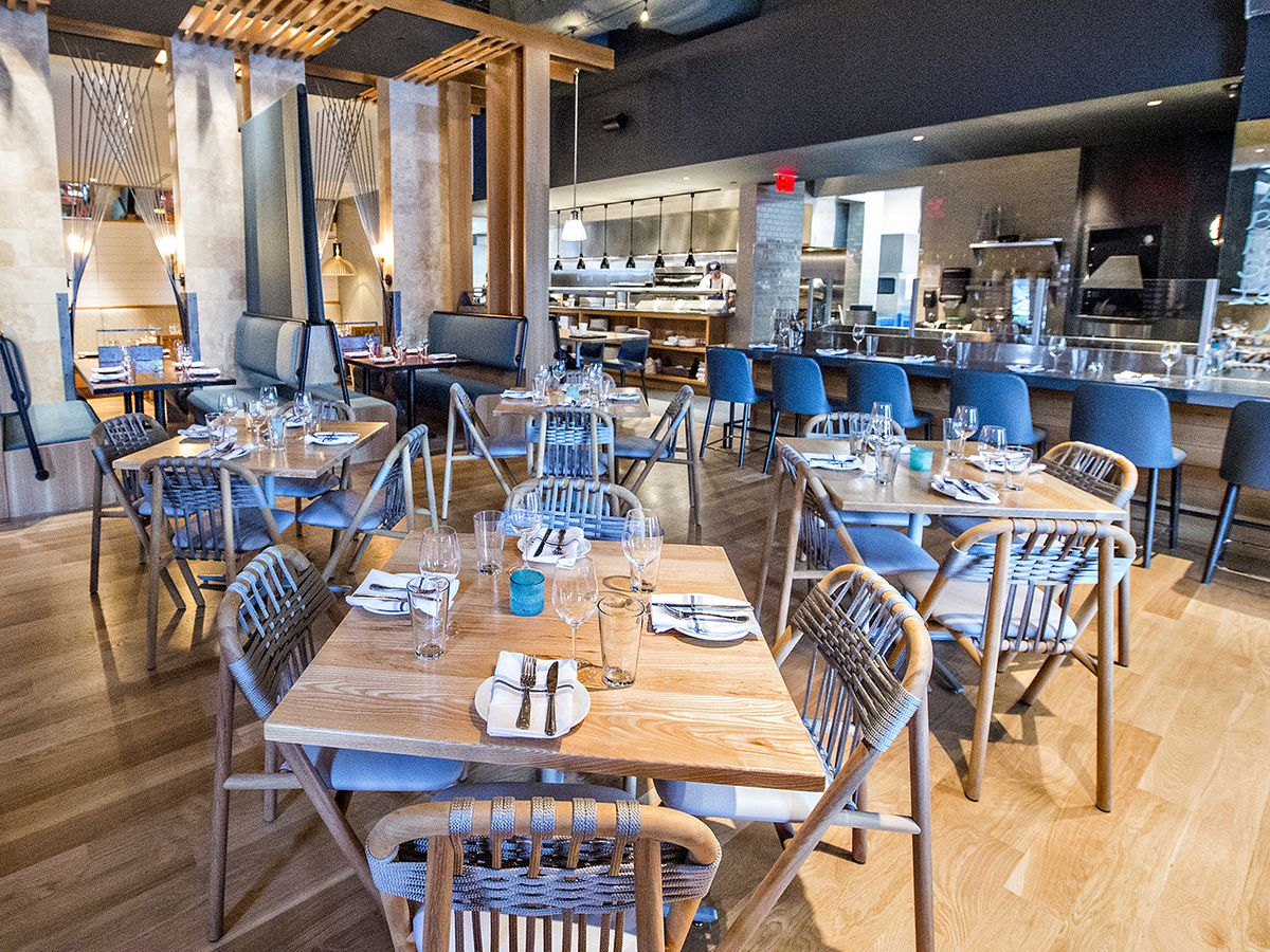 Inside the dining room at Drift Fish House