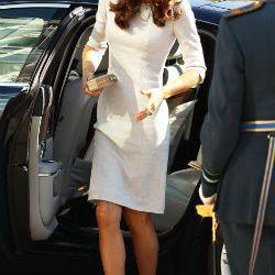 Kate Middleton's go-to LK Bennett nude pumps, via Getty