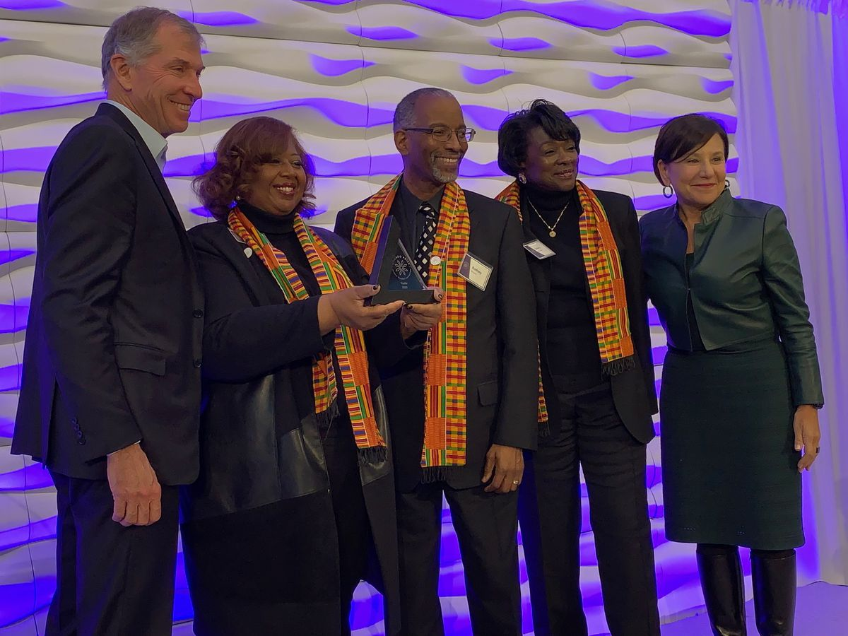A team of North Lawndale community organizations are recognized as finalists Wednesday by Bryan Traubert and Penny Pritzker in their foundation's Chicago Prize Challenge.