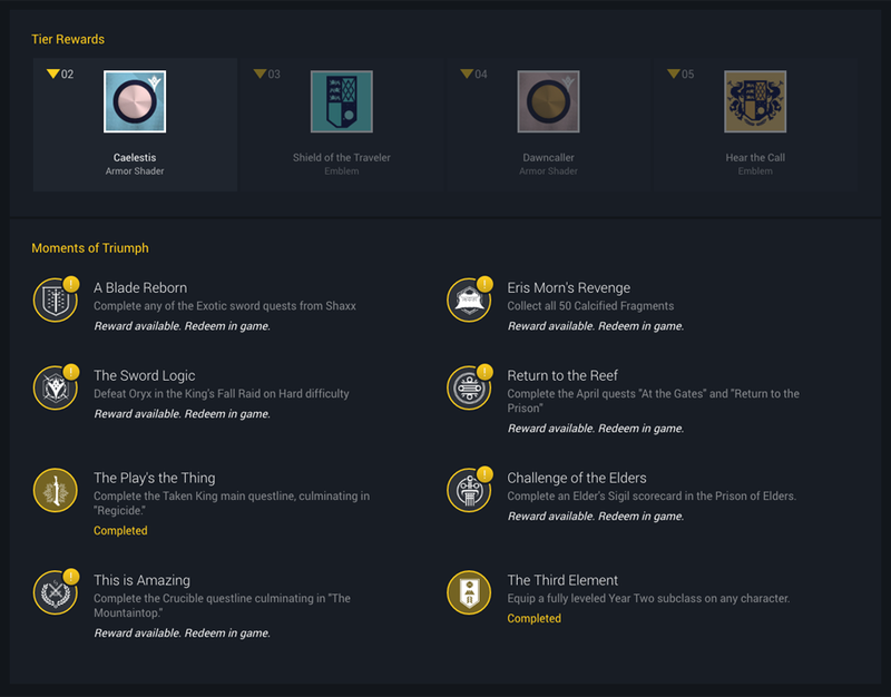 destiny's moments of triumph are back for a second year - polygon