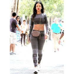 """While we all clamor for a mere glimpse of <a href=""""http://racked.com/archives/2014/09/05/alexander-wang-x-hm-preview-mens.php"""">Alexander Wang for H&M</a>, Rihanna casually strolls down an NYC street in it."""