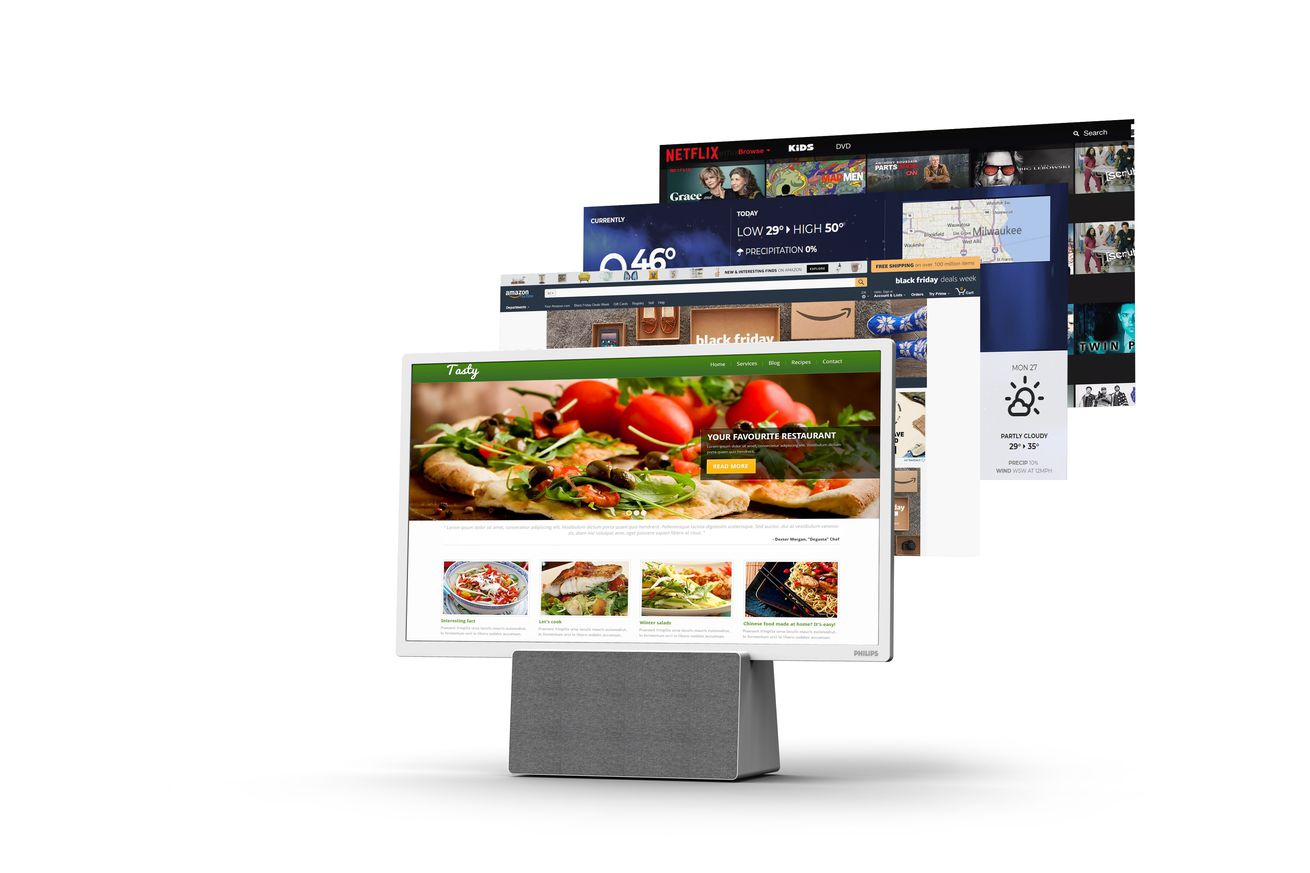 philips new kitchen tv takes on the echo show with google assistant