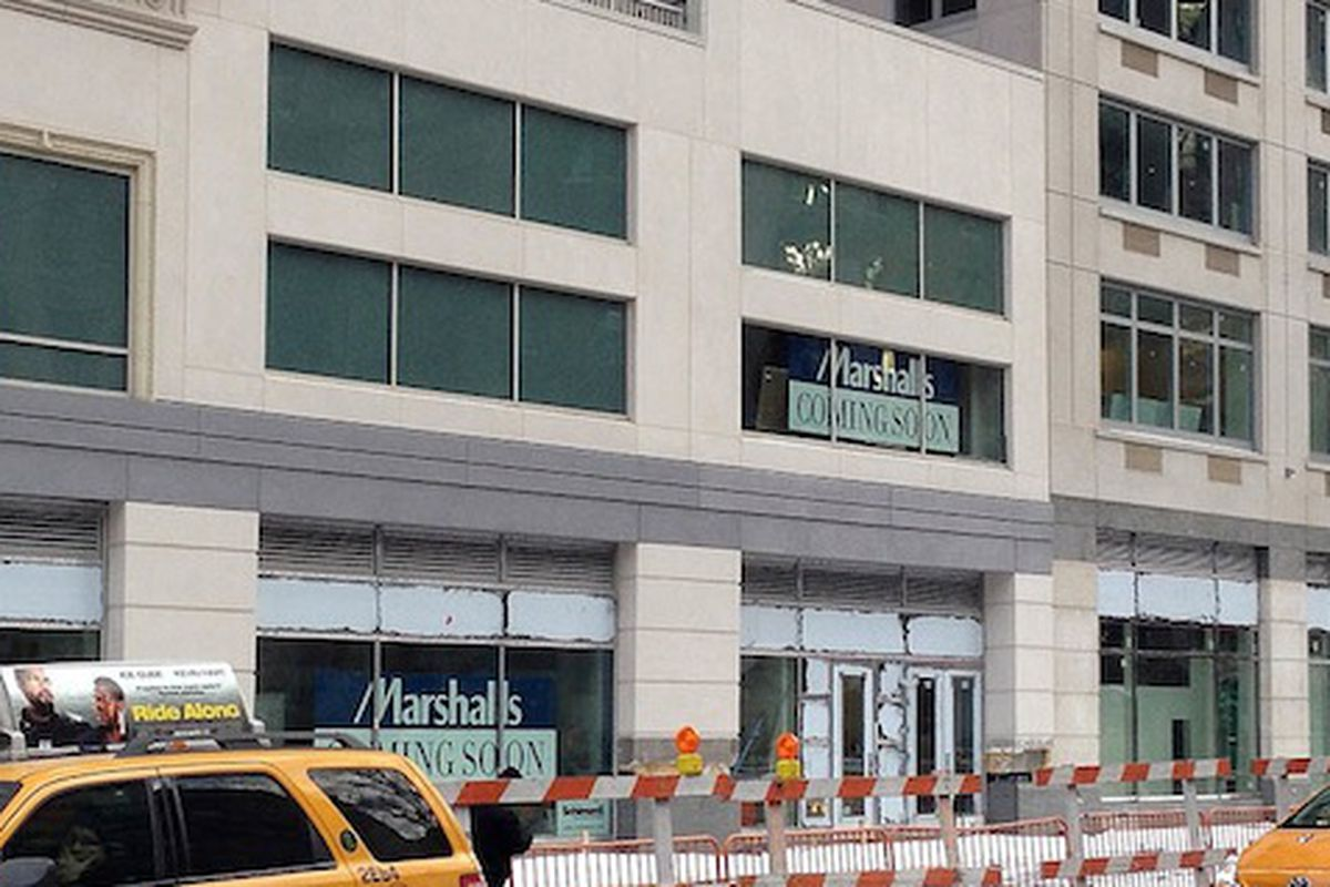 """Make that """"Coming Very Soon."""" Image via <a href=""""http://theshophound.typepad.com/the_shophound/2014/01/discount-domination-marshalls-to-fill-the-loehmanns-void-on-the-upper-west-side.html"""">The Shophound</a>"""