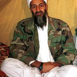 This is an undated file photo shows al Qaida leader Osama bin Laden, in Afghanistan. When he first spoke of the demise of Osama bin Laden, President Barack Obama asked the nation to think back to the unity of Sept. 11. Now the killing of America's most wanted is something else: a concentrated campaign weapon against Mitt Romney, even a bumper sticker message. The Obama campaign, with White House help, is playing up the one-year mark of bin Laden's death for political gain.  (AP Photo)