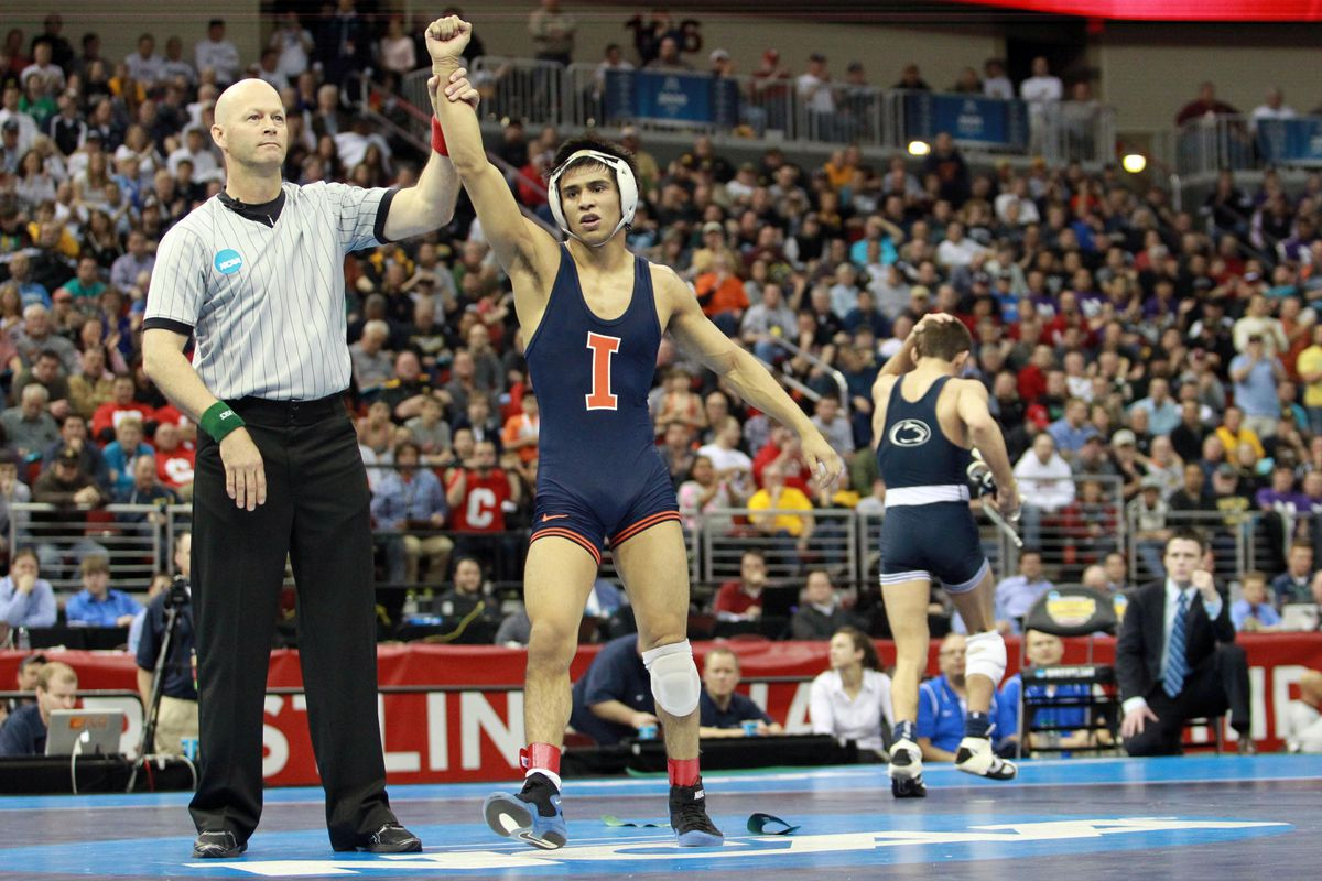 Illini senior and two-time NCAA champion, Jesse Delgado is ranked preseason No. 1 at 125-pounds.
