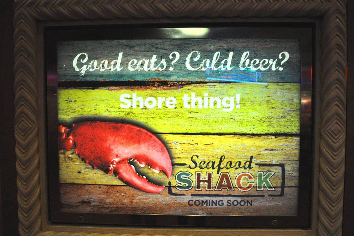 The Seafood Shack plans to open in mid-September at Treasure Island.