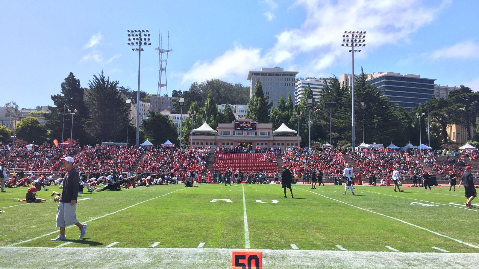 kezar stadium practice recap  49ers first and only open