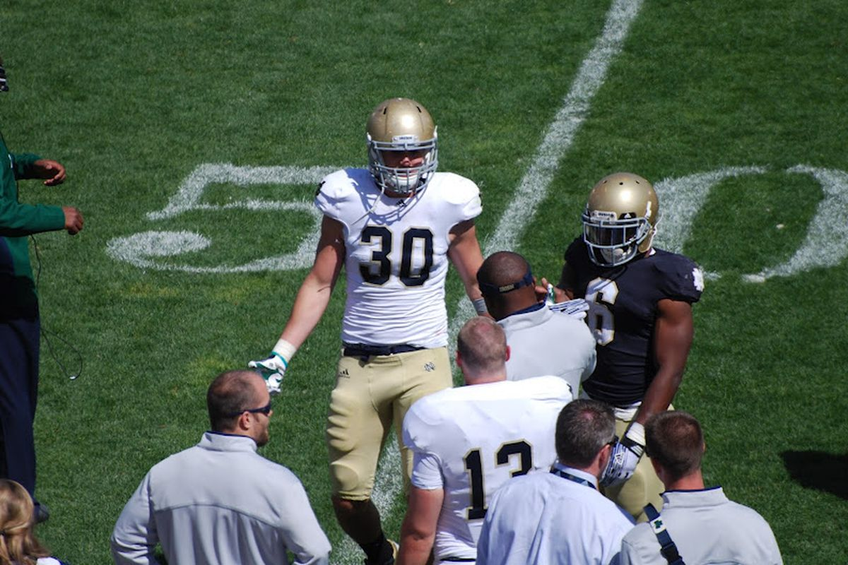 Is Ben Councell the future at the Dog linebacker position? (via shutterbug Jim Miesle)