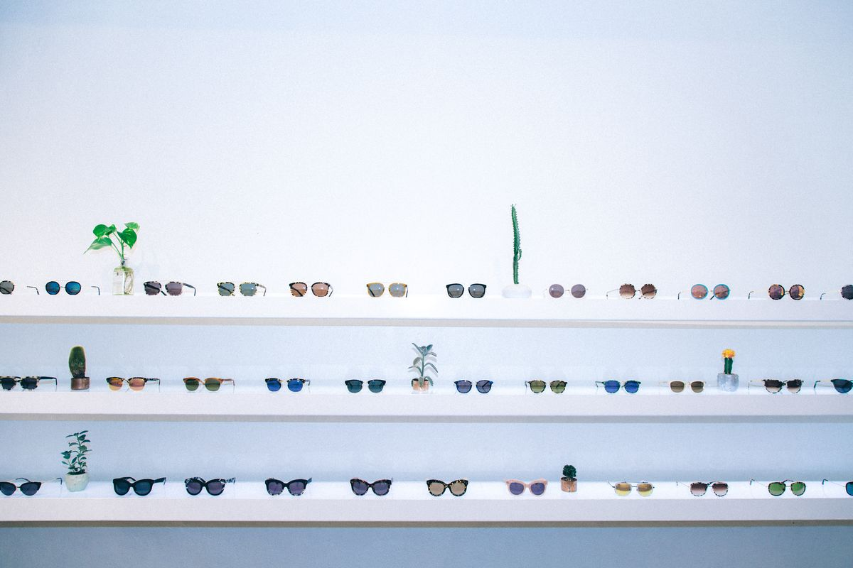 Krewe du Optic Glasses Wall