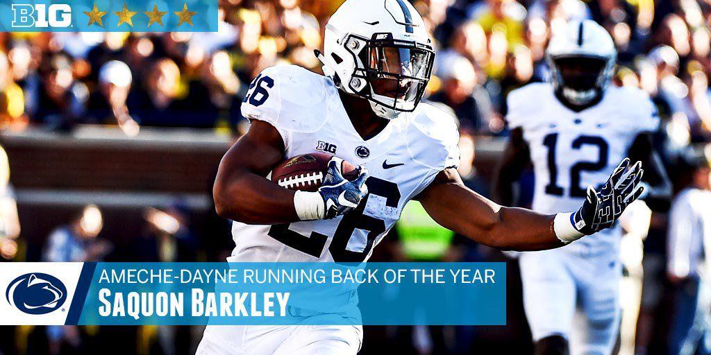 Saquon Barkley Running Back of the Year