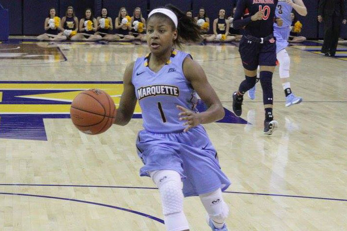 Danielle King led Marquette in scoring with 16 points against Seton Hall.