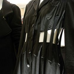 A close up of a 1990 Jean-Paul Gaultier suit