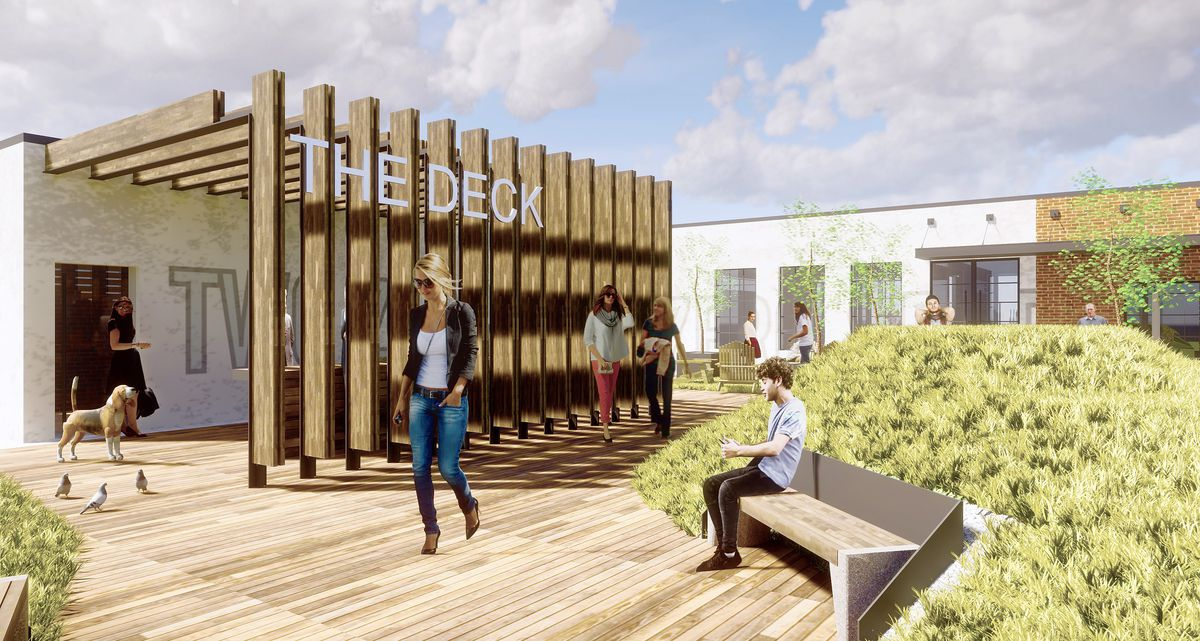 The planned rooftop amenity space near Hooters and Hard Rock Cafe downtown.