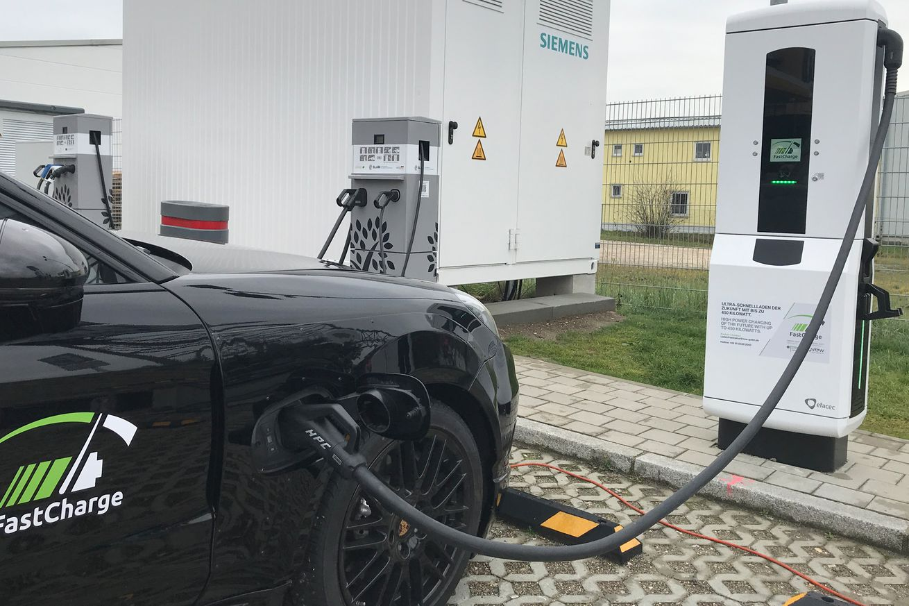 porsche and bmw unveil ev charger that s three times faster than tesla s