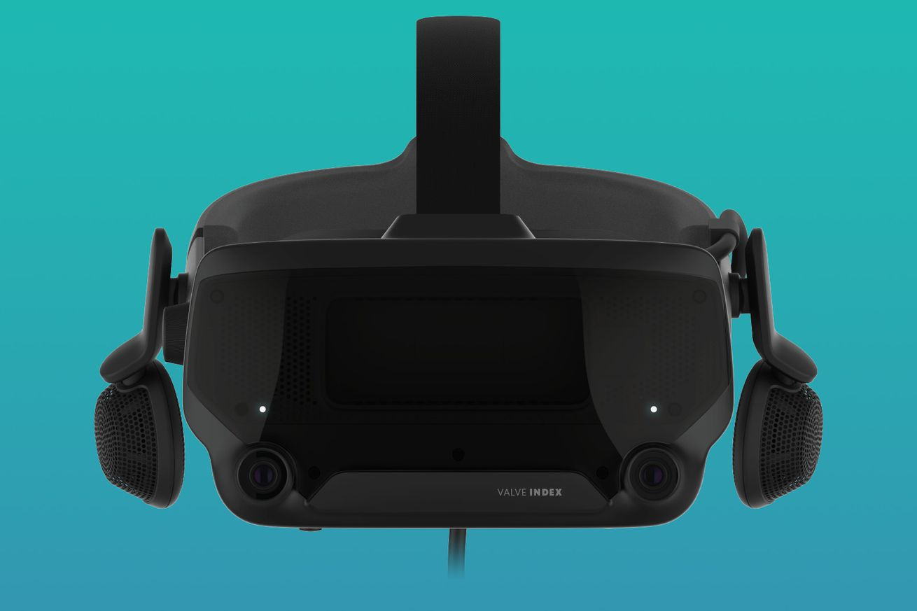 The Valve Index VR headset in its full form.