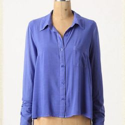 """<a href=""""http://www.anthropologie.com/anthro/product/24029597.jsp?color=040"""">Softly shaped button-down</a>, $29.95 (was $98)"""