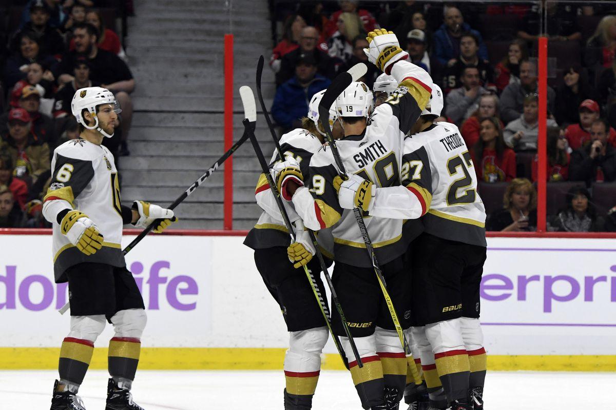 NHL: Vegas Golden Knights at Ottawa Senators