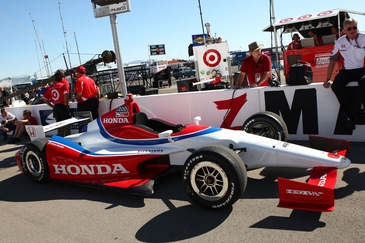 The Dallara DW12 has had teething problems since the beginning of testing for the 2012 season. (Photo: IndyCar)
