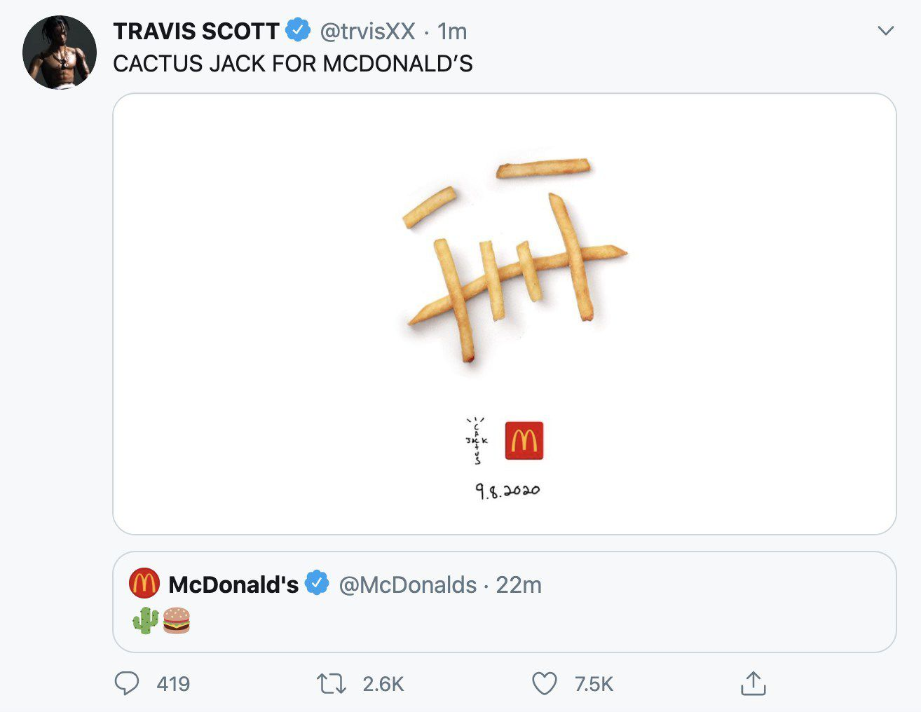 Travis Scott Mcdonalds Tee