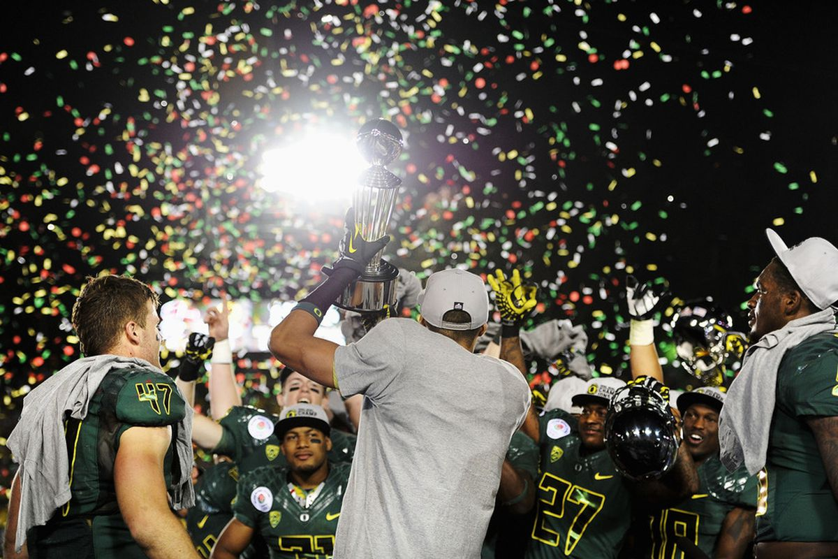 Oregon may not be doing this at the end of the season...