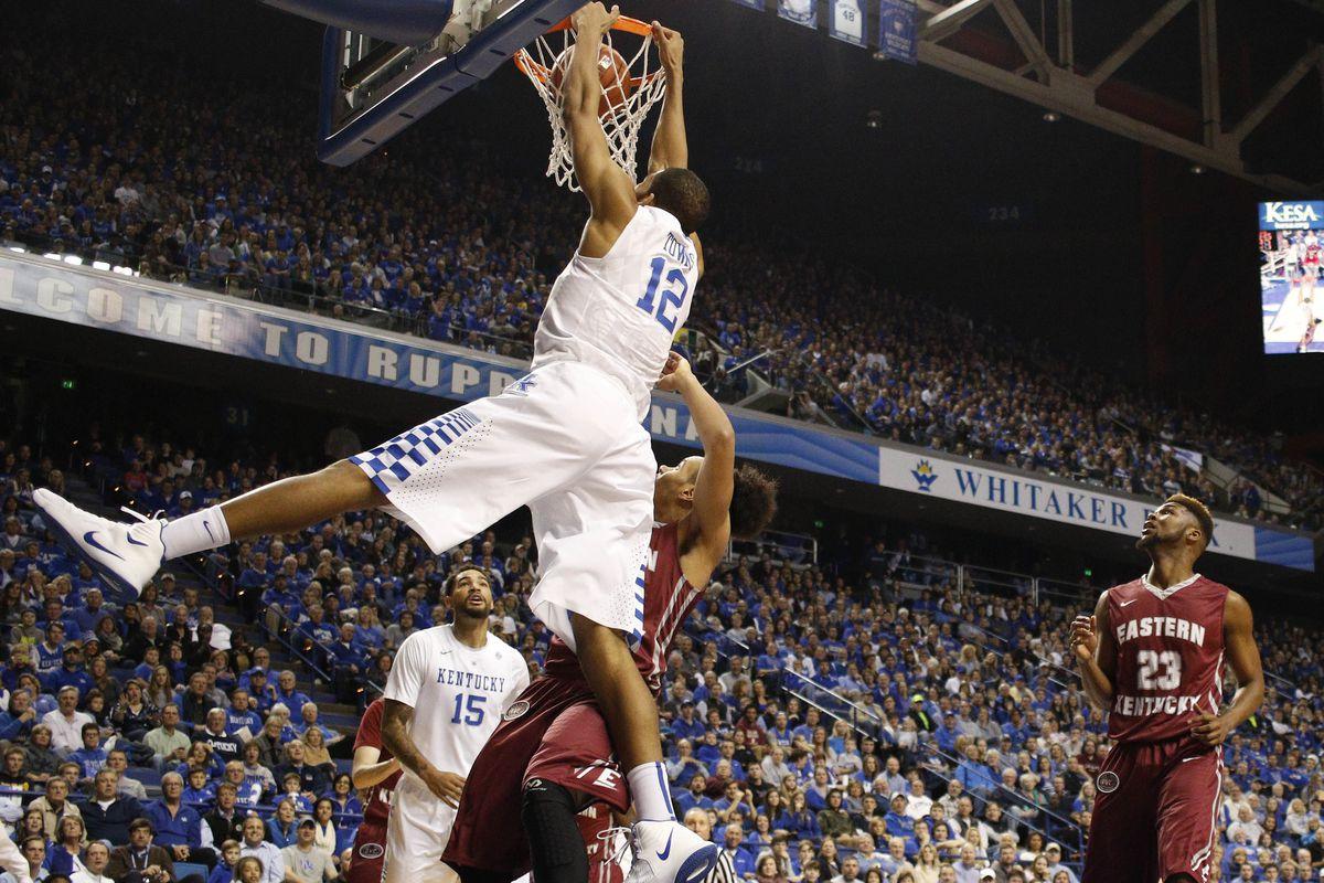 We play big boy basketball at Kentucky.