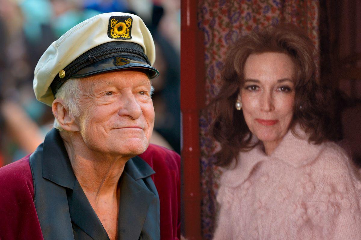 Hugh Hefner, left; Helen Gurley Brown, right