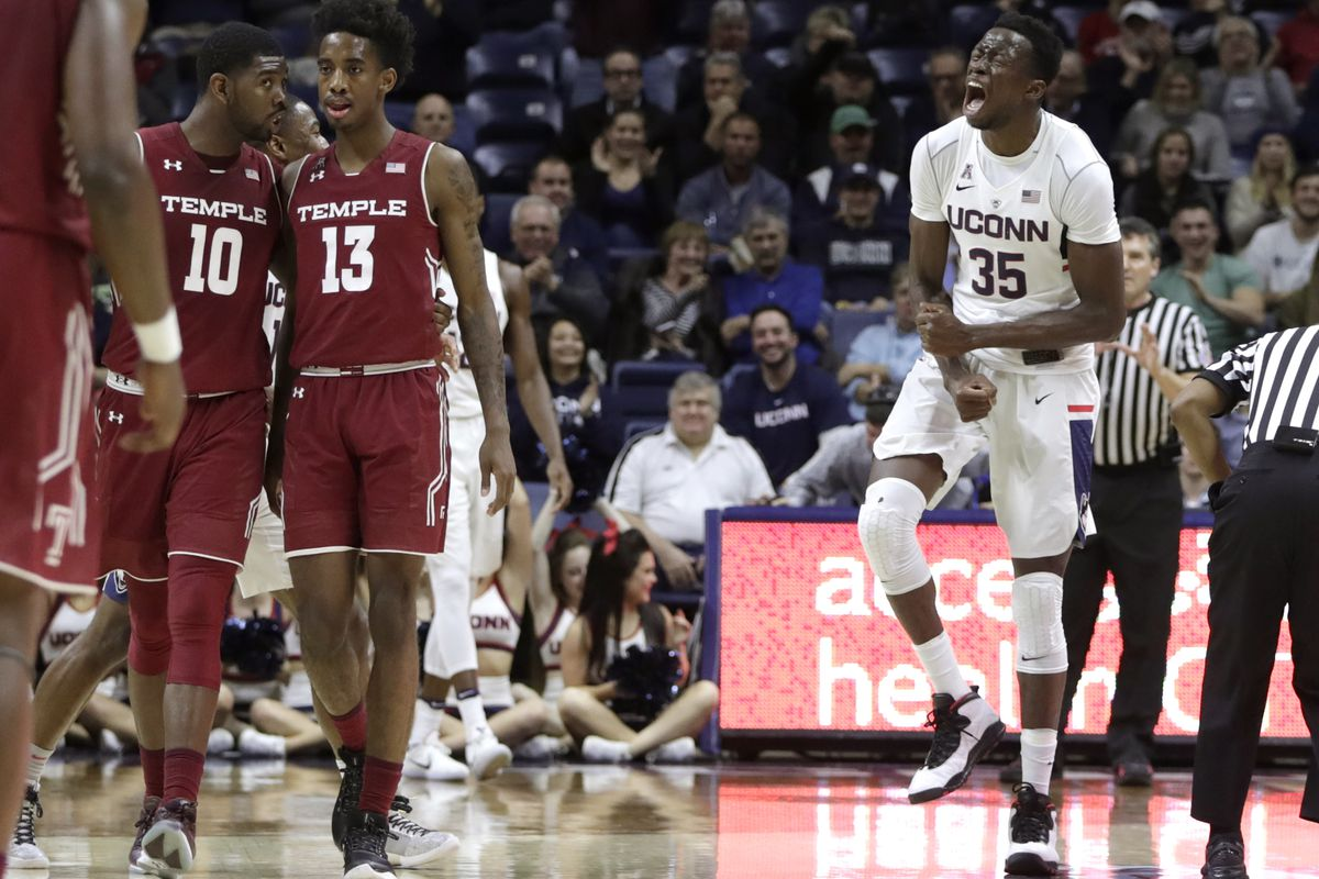 NCAA Basketball: Temple at Connecticut