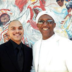 Los Hombres Calientes' Irvin Mayfield and Bill Summers will perform at Kingsbury Hall May 3, 2006.