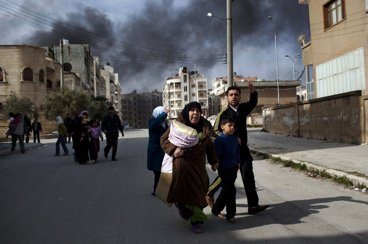syria fleeing civilians